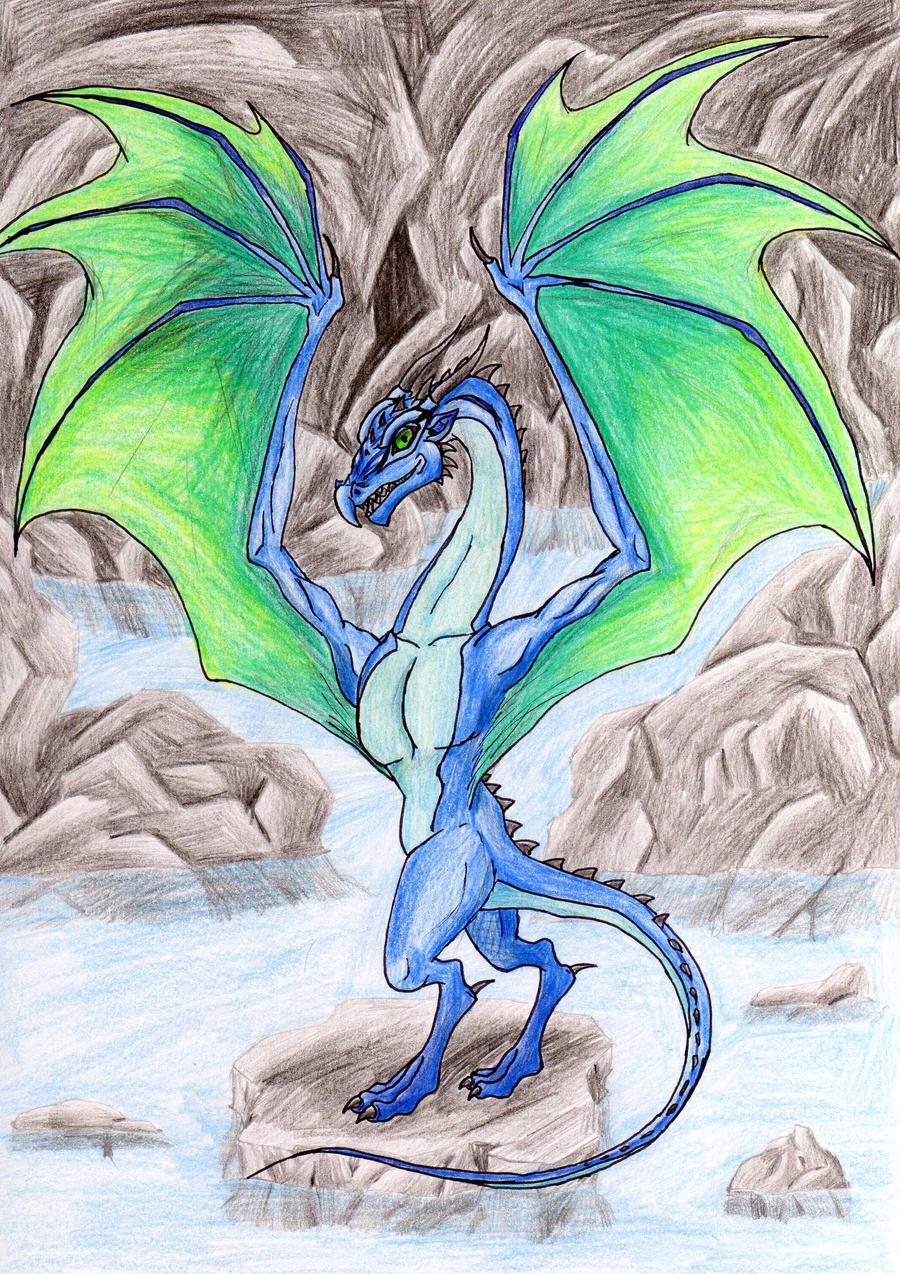 Blue Dragon by DragonKecks