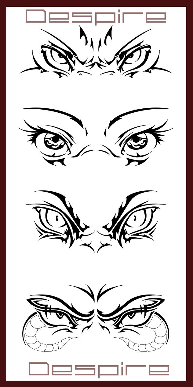 Tribal Eyes Design by DJDragon