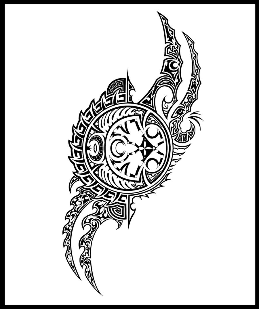 moon clock tattoo tribal by djdragon on deviantart. Black Bedroom Furniture Sets. Home Design Ideas