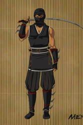 Shredder as a Samurai Warrior