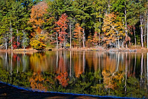 Monastery Lake Reflections Nov 20 2019