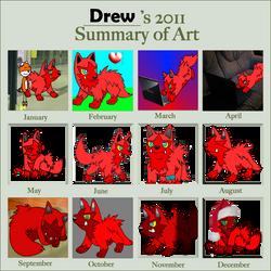 summary of art 2011 by DrewTheRedPoochyena