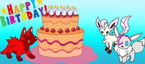 happy early birthdays! by DrewTheRedPoochyena