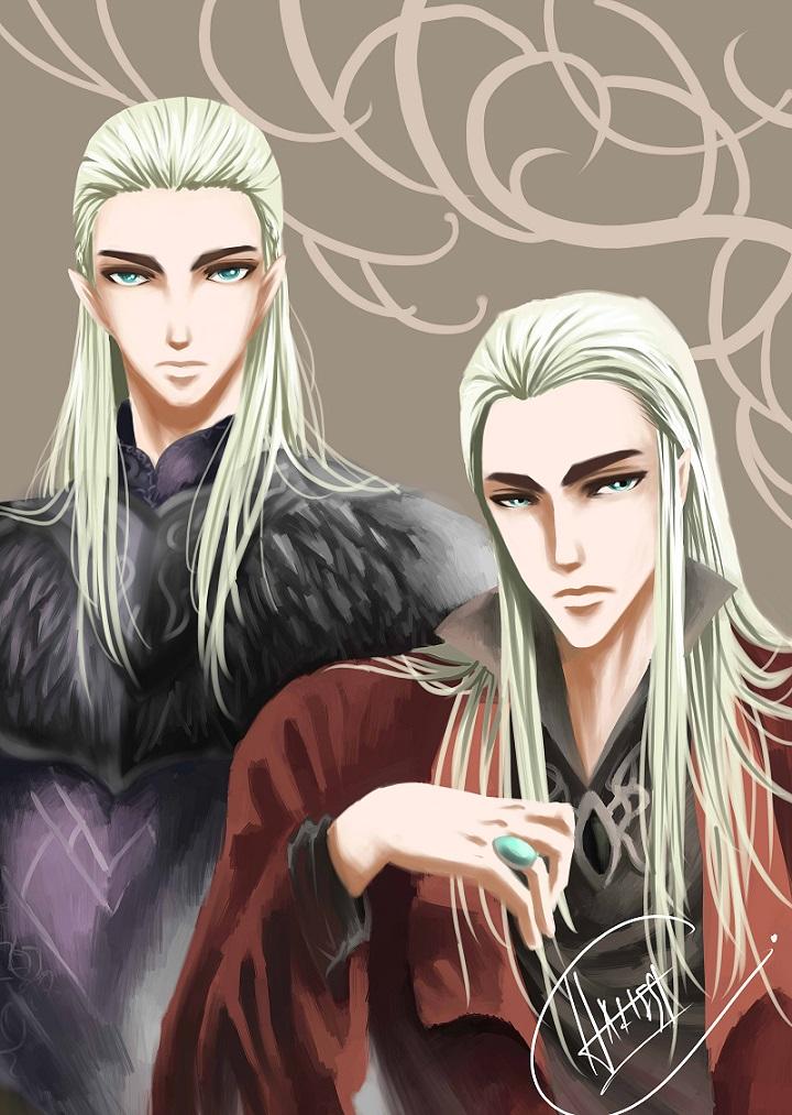 Thranduil and Legolas by Haitest