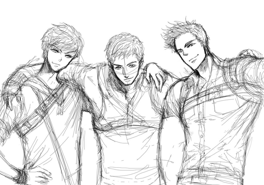 The maze runner newt thomas minho by haitest on deviantart for Newt coloring pages