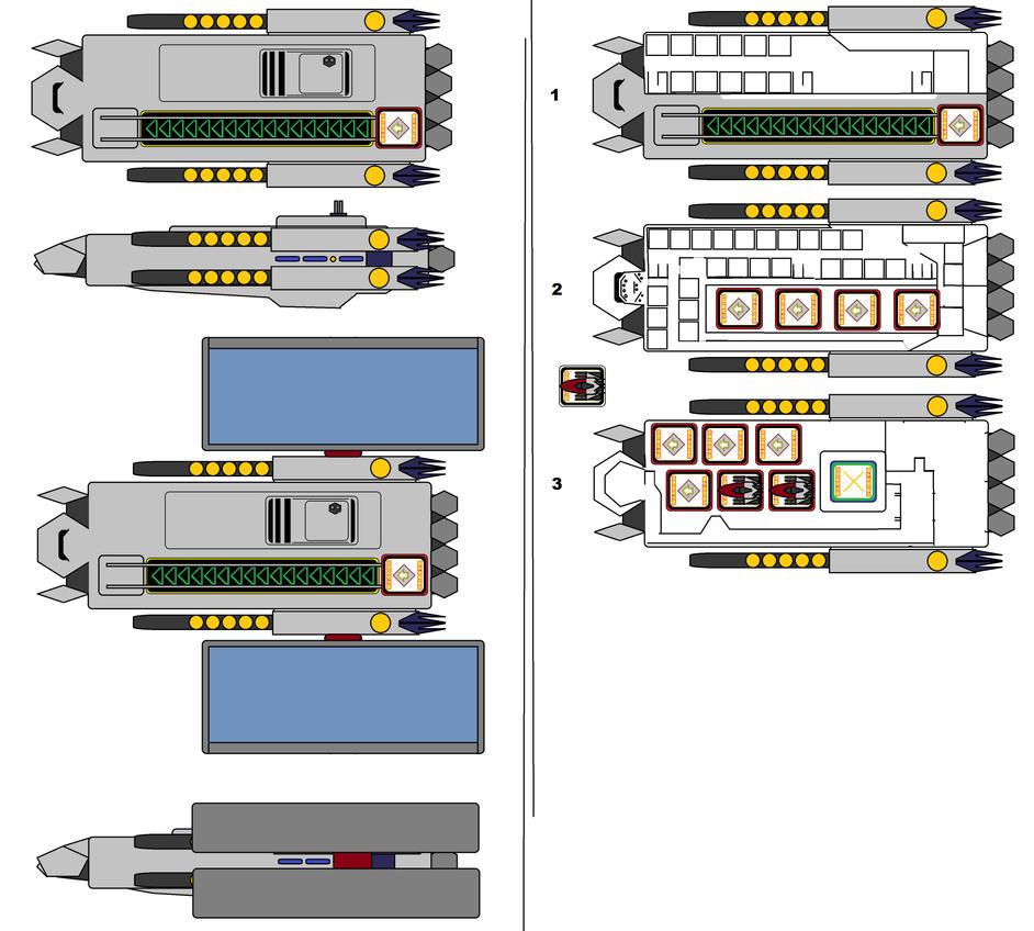 NX-Z001 Fregate Balistar by Daleduc
