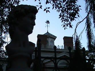 David Contemplates the Mansion