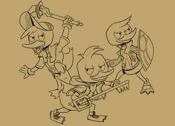 Ducktober 3 -- Huey Dewey and Louie by piqueRAJ