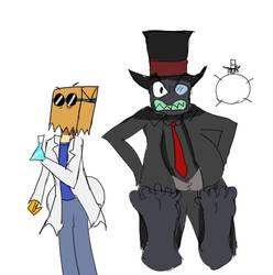 Villainous - Dr. Flug and Black hat by makeitBIGandGOOD