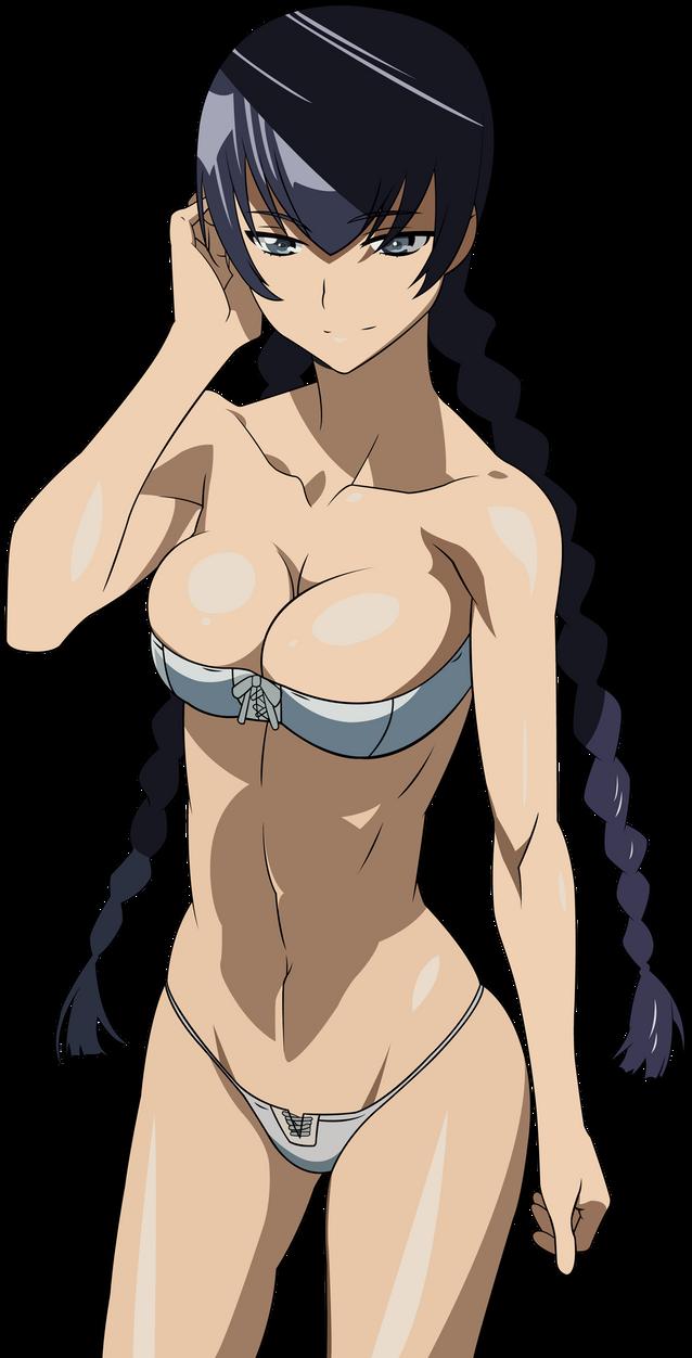 Highschool of the dead saeko sexy