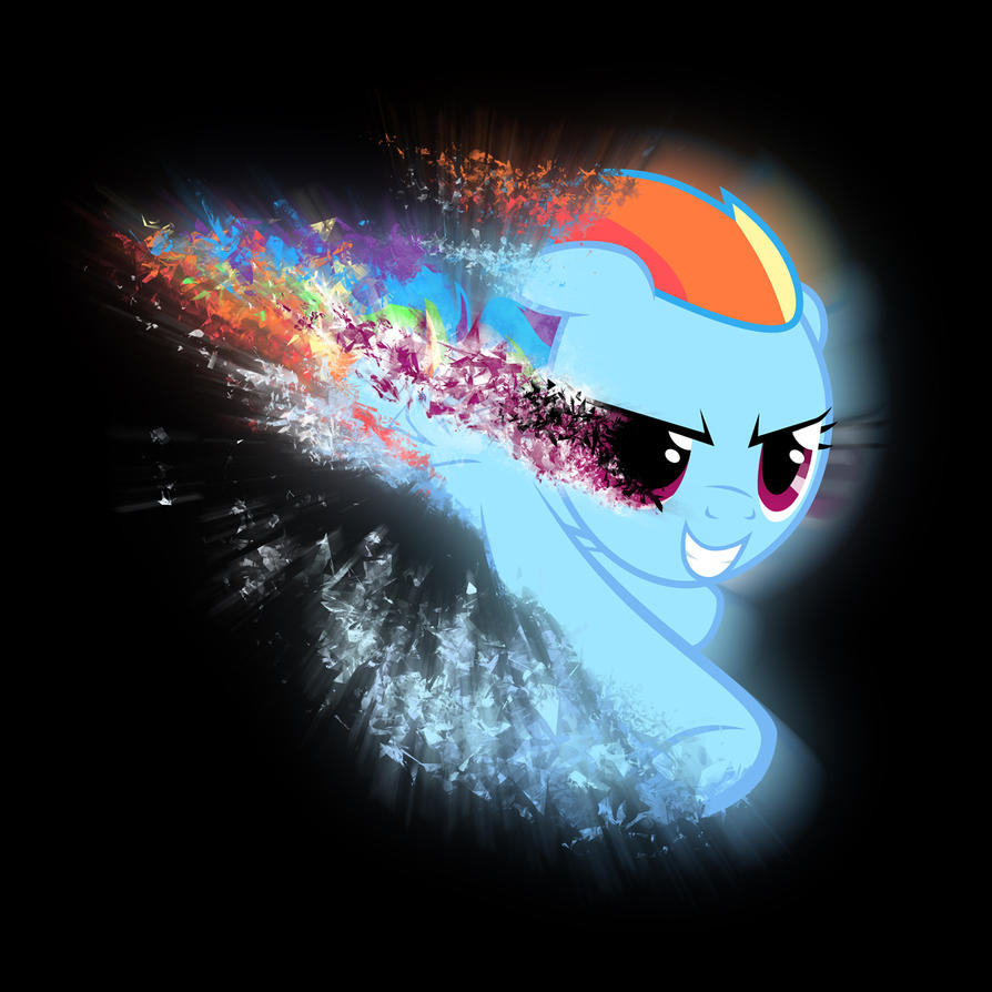Rainbow Dash Shattered - HYPER SONIC! by dadio46
