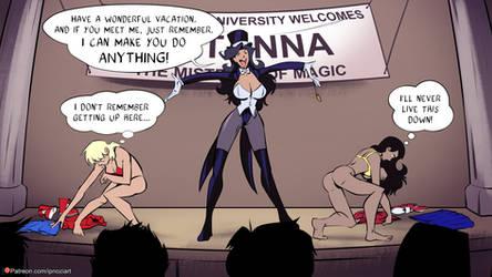 Zatanna's Hypno Comic Merry Christmas! by ipnozi