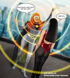 Spandex super-heroines on Gumroad by ipnozi