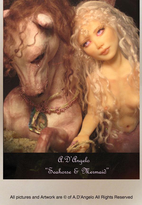 Seahorse + Mermaid by adartstudio