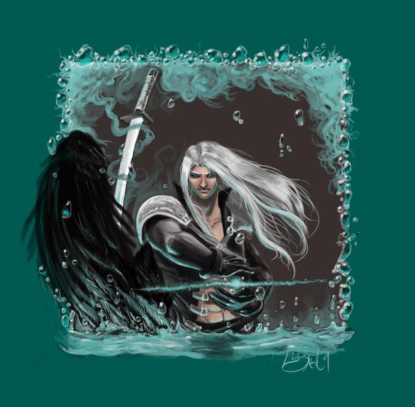Sephiroth - The Black Wing by Mudora