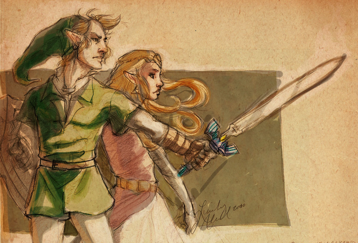 Link and Zelda - for aquanut by Mudora