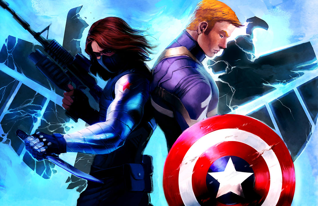 Captain America and The Winter Soldier by Mudora
