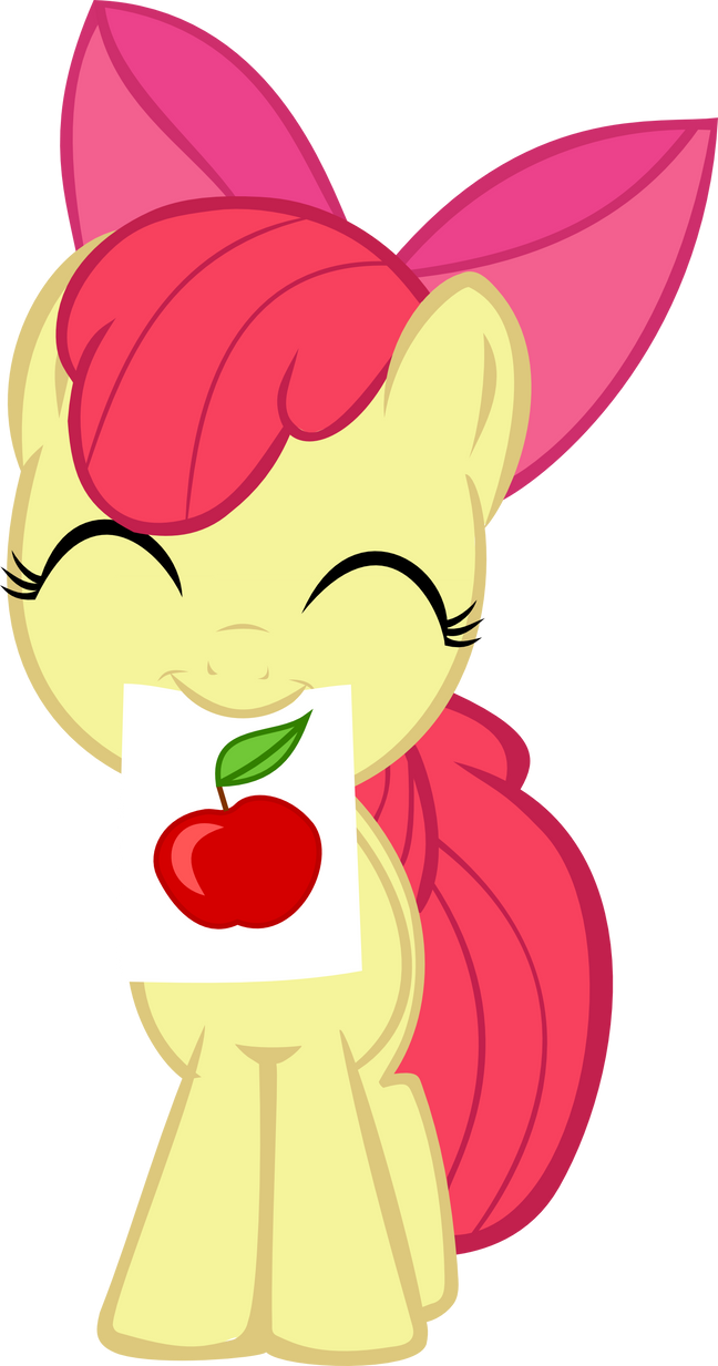Ah drew an apple! by Cwossie