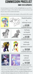 Commission pricelist: Update by Cwossie