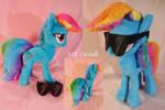 Soft Gradient Rainbow Dash Plushie by Cwossie