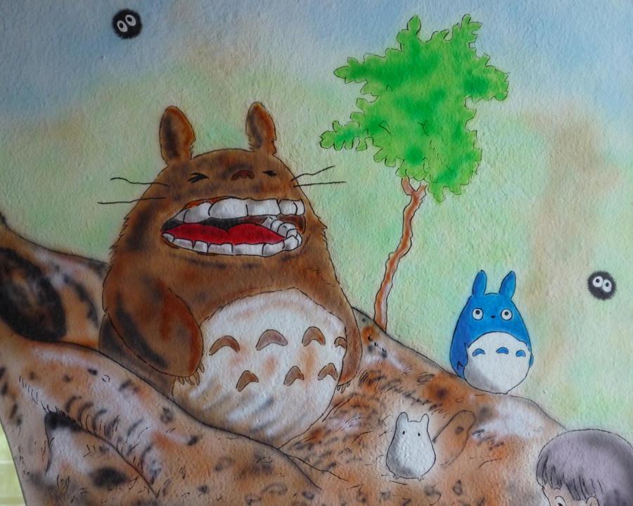 Tribute to Miyazaki Totoro by rufy73