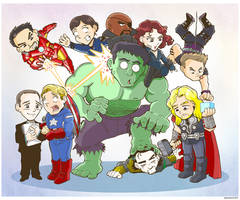 Avengers Family Portrait by Saturn-Kitty