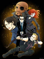 S.H.I.E.L.D. showcase by Saturn-Kitty