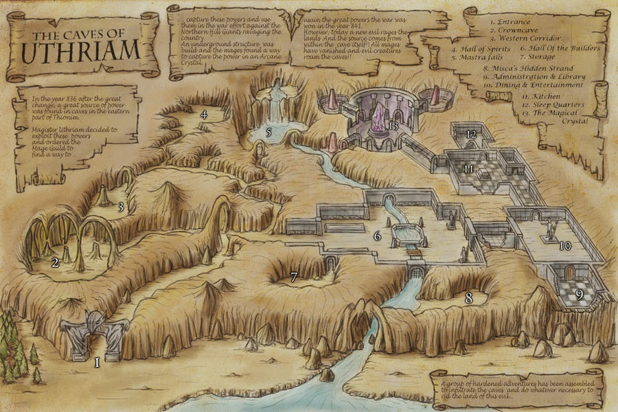 Caves Of Uthriam by Djekspek