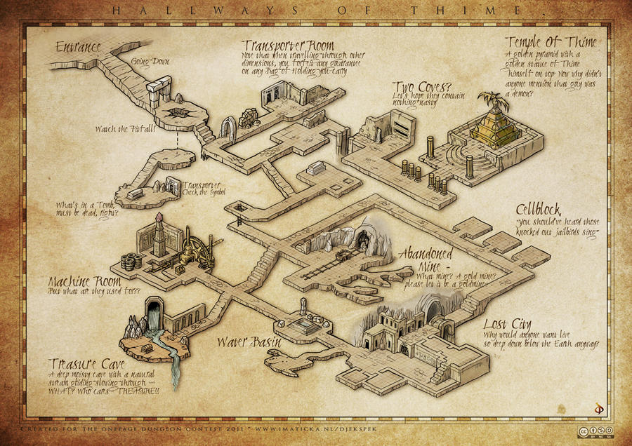 ART] My One Page Isometric Dungeon Map (Dungeon Builder) : DnD Dungeon Map Maker on