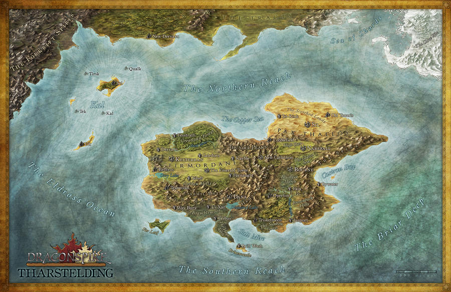 Draconspire Tharstelding Map by Djekspek