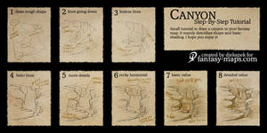Fantasy map - Step by step tutorial - Canyon