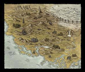Small Fantasy Map by Djekspek
