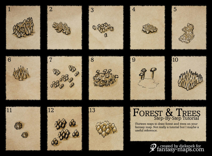 Trees on Maps Reference by Djekspek