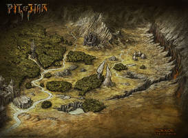 Pit Of War Fantasy Map - Rok'Kor by Djekspek