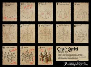 Fantasy Map Tutorial - Castle Symbol
