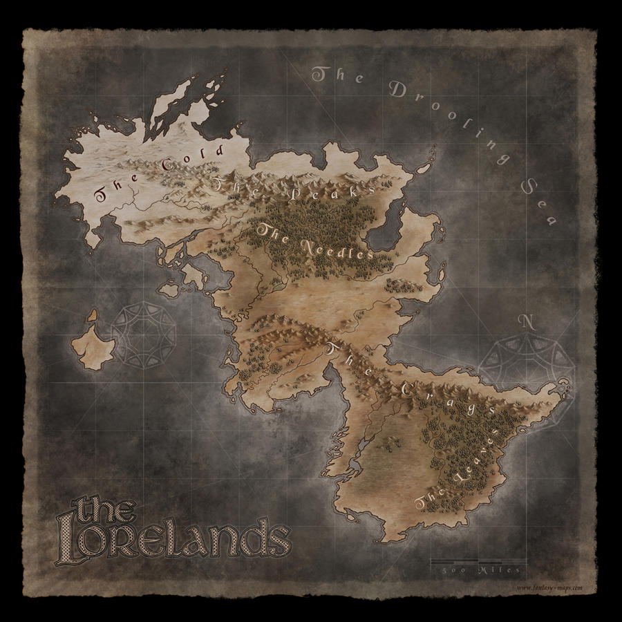 The Lorelands - Fantasy Map by Djekspek