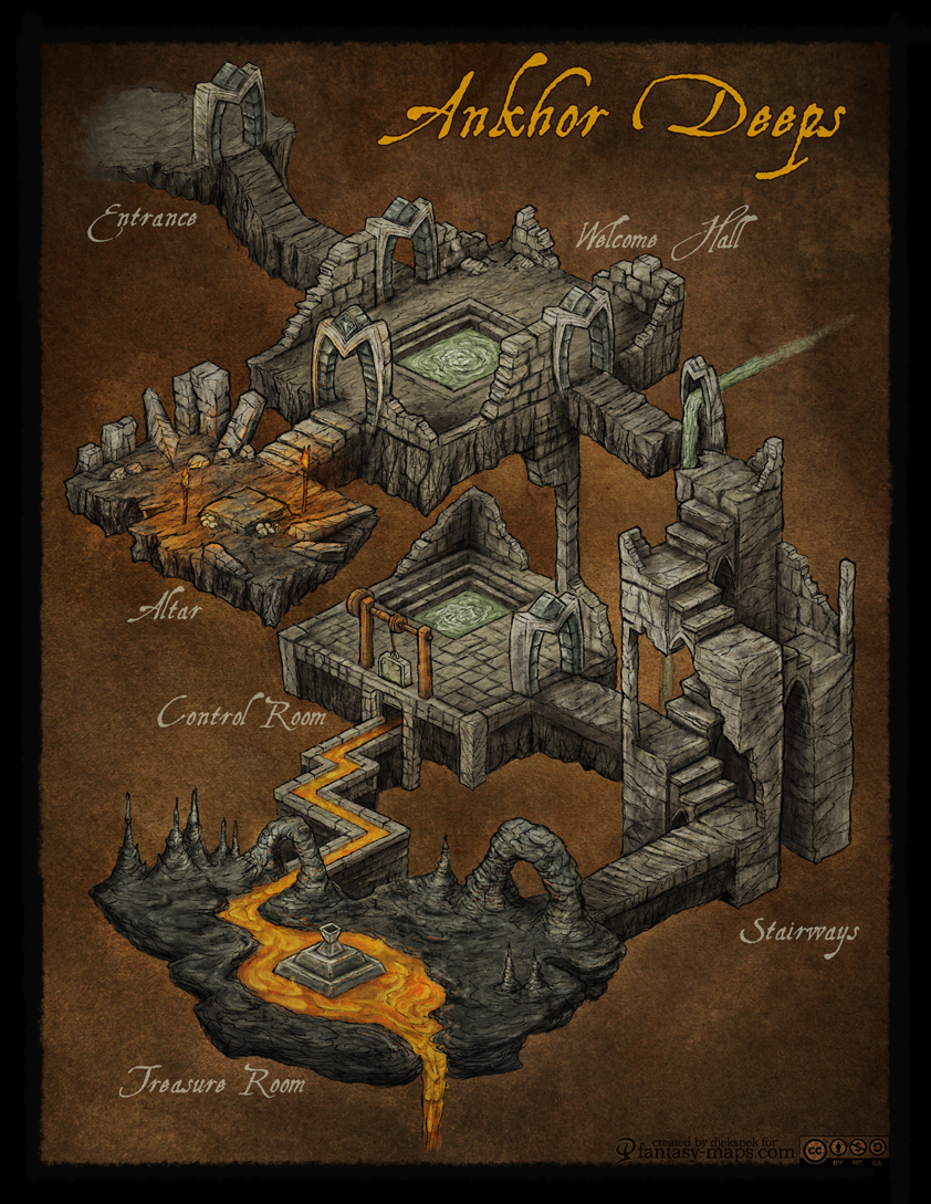 how to draw a dungeon