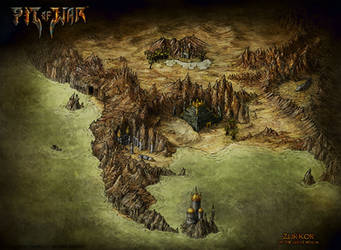 Pit Of War Fantasy Map - Zur'Kor by Djekspek