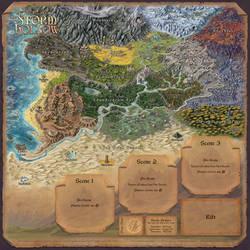 Story Realms Map by Djekspek