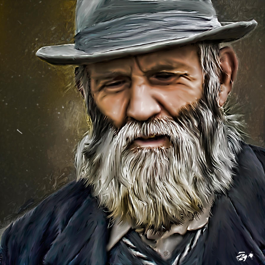 how to draw an old man with a beard