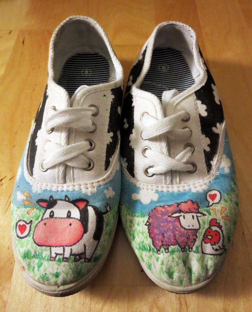 Custom Harvest Moon Shoes by sworndestiny