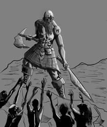 WIP: Brave Scotland by binkydragonlord