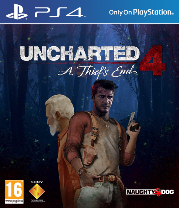 Uncharted 4 a thief 39 s end cover art ps4 by - Uncharted 4 wallpaper ps4 ...