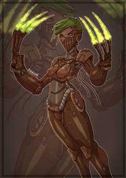 Sci-fi Cyborg Girl