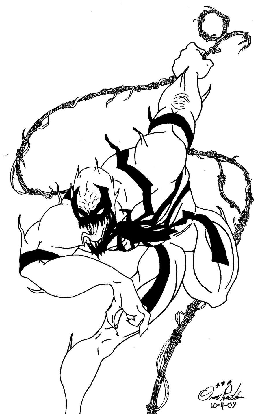 carnage coloring pages - 900 x