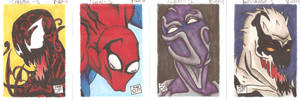 Born of Monsters sketchcards