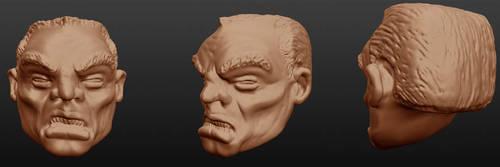 Sculptris: Eddie Brock head 1 [EDIT 1] by OrionSTARB0Y