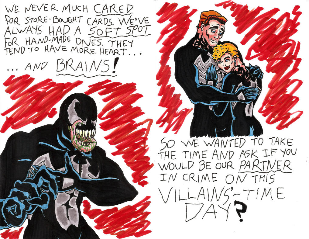 Venom's Villains'-Time Day Card by OrionSTARB0Y
