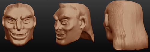 Sculptris: Eddie Brock head 3 by OrionSTARB0Y