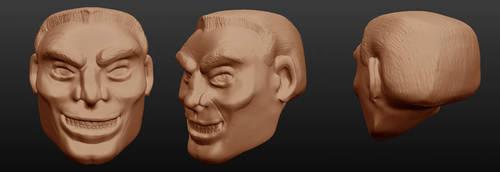 Sculptris: Eddie Brock head 2 by OrionSTARB0Y